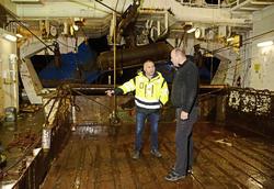 Forsker Stein Harris Olsen og skipper Torgeir Mannevik.